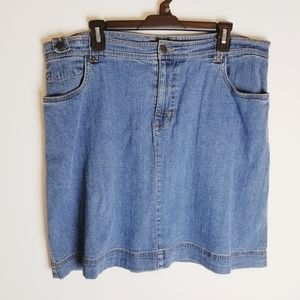 Woolrich denim jean skirt knee length plus size 16